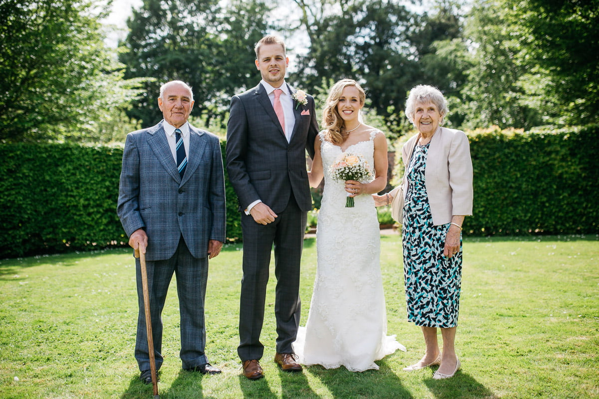 family photo within the grounds at saltmarsh hall