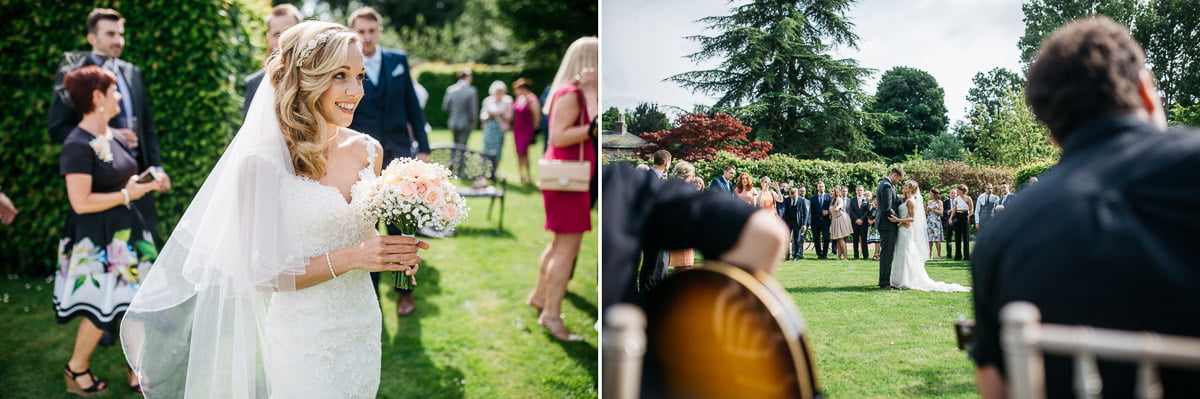 First dance in the gardens at saltmarsh hall