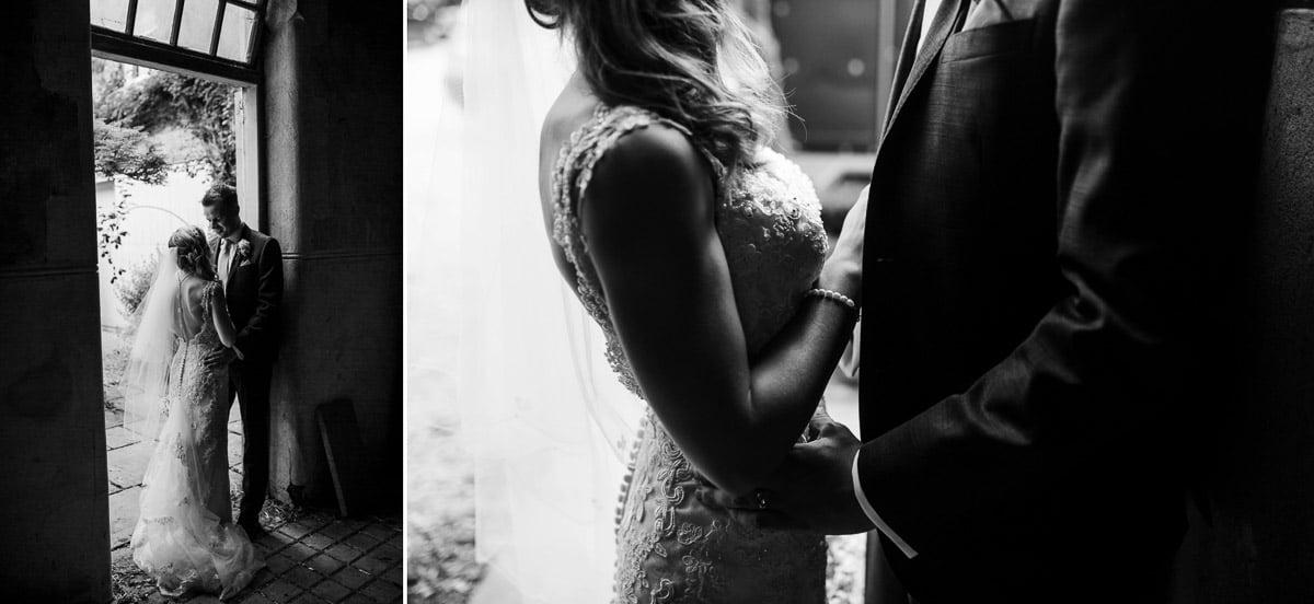intimate, black and white, close, kissing, barn, saltmarsh hall